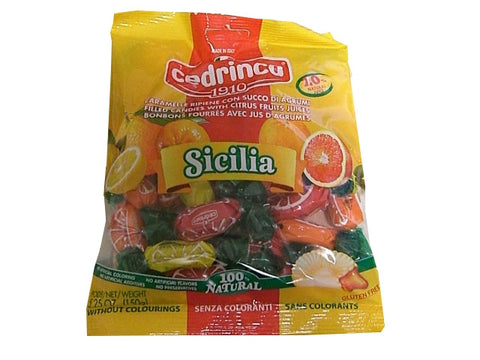 Sicilia Citrus Fruit Filled Candies (Cedrinca) 150g - Parthenon Foods