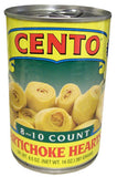 Artichoke Hearts, 8 to 10 count (Cento) 14 oz - Parthenon Foods