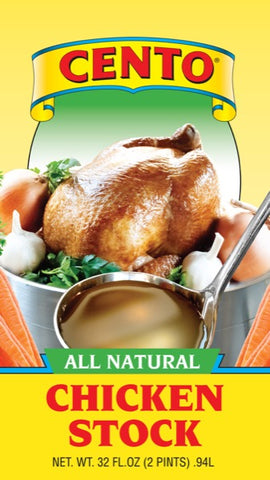 Chicken Stock (Cento) 32 oz - Parthenon Foods