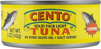 Cento Tuna in Pure Olive Oil, 5 oz (142g) - Parthenon Foods
