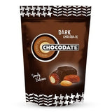 Chocodate with Almond, DARK Bag 7.93 oz (225g) - Parthenon Foods