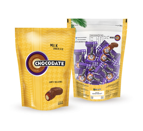 Chocodate with Almond, MILK Bag 7.93 oz (225g) - Parthenon Foods