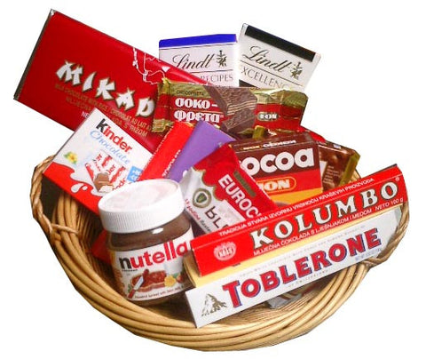 Chocolate Gift Basket 14pc - Parthenon Foods