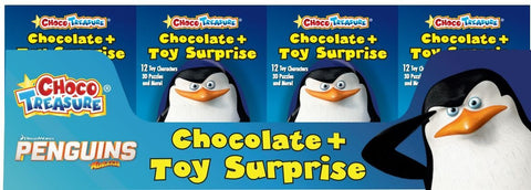 Penguins of Madagascar Milk Chocolate Eggs with Toy Surprise (Pack of 12) - Parthenon Foods