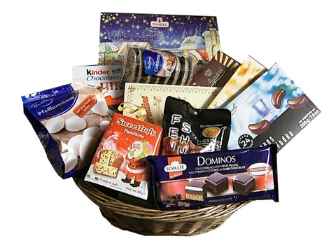 Christmas Gift Basket 12pc - Parthenon Foods
