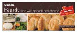 Classic Burek with Spinach and Cheese, 600g - Parthenon Foods