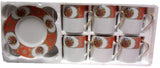 Coffee Cups and Saucers, Small, 12pc (style CF90-A ) - Parthenon Foods