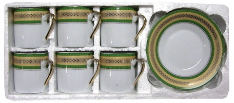 Coffee Cups and Saucers, Small, 12pc (style CG90A) - Parthenon Foods
