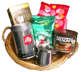 Coffee Gift Basket 6pc - Parthenon Foods
