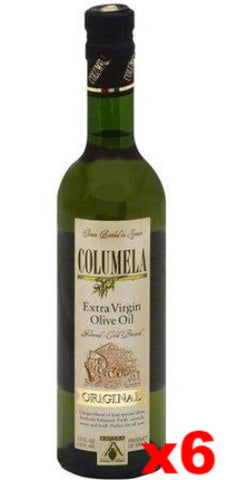 Columela Extra Virgin Olive Oil, CASE (6 x 17 oz (500 ml)) - Parthenon Foods