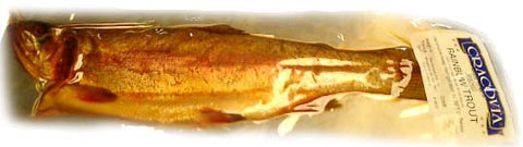 Smoked Rainbow Trout - whole, approx. 0.8-1.2lb - Parthenon Foods