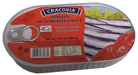Sprats in Tomato Sauce (Cracovia) 200g - Parthenon Foods