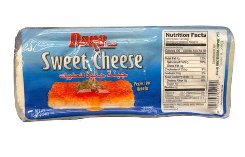 Sweet Cheese (Dana) approx. 1 lb (16 oz) NEW PACK - Parthenon Foods
