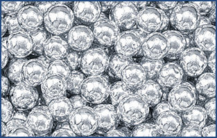 Decorative Silver Dragees, No.8 Sphere, approx. 1.3oz - Parthenon Foods
