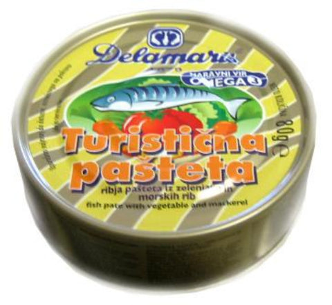 Fish Pate with Vegetables, Turisticna (Delamaris) 80g - Parthenon Foods