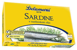 Sardines in SoyBean Oil (Delamaris) 105g - Parthenon Foods  - 1