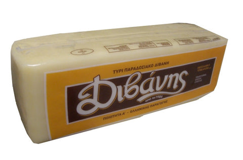Greek Kaseri Cheese (Divani), approx. 6.5 lbs Square - Parthenon Foods