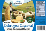 Romanian Kashkaval Dobrogea Sheep Cheese, 400g - Parthenon Foods