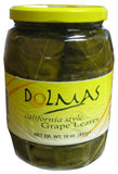 California Style Grape Leaves (DOLMAS) DR. WT. 16oz (453g) - Parthenon Foods