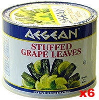 Stuffed Grape Leaves (aegean) CASE (6 x 2 kg (4 lb 6 oz)) - Parthenon Foods