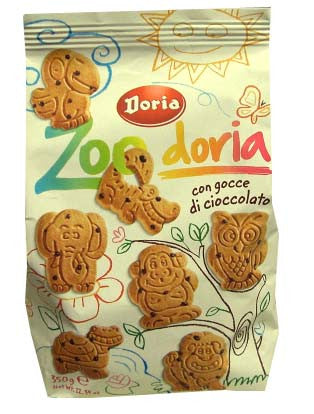 Zoo Doria Animal Shaped Shortbread Biscuits (Doria) 300g with Cocoa - Parthenon Foods