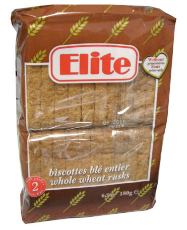 Toast Rusks WHOLE Wheat (Elite) 180g - Parthenon Foods