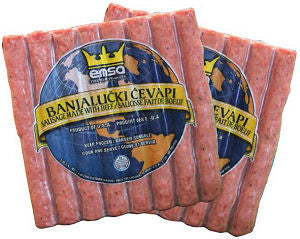 Minced Meat Sticks - Banjalucki Cevapi, approx. 2.2lb - Parthenon Foods