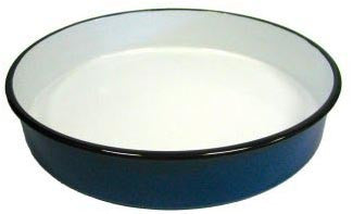 Round Enamel Pan (24 cm), approx. 2 in. deep - Parthenon Foods