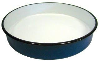 Round Enamel Pan (40 cm), approx. 2 in. deep - Parthenon Foods