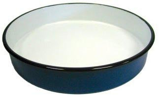 Round Enamel Pan (32 cm), approx. 2 in. deep - Parthenon Foods