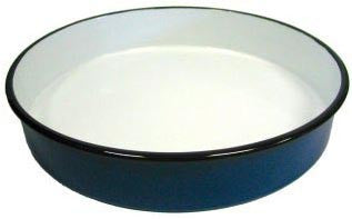 Round Enamel Pan (36 cm), approx. 2 in. deep - Parthenon Foods