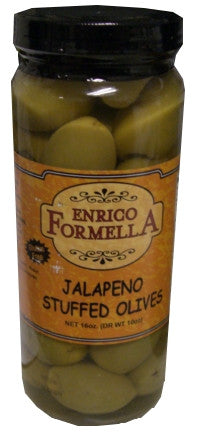 Jalapeno Stuffed Olives, 500ml (16oz), Enrico Formella - Parthenon Foods