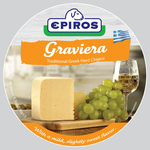 Greek Graviera Cheese (EPIROS) 9.5 oz (270g) - Parthenon Foods