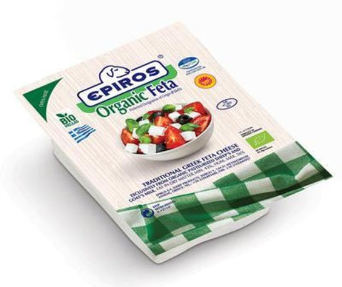 Organic Greek Feta Cheese (EPIROS) 200 g - Parthenon Foods