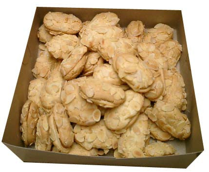 Ergolavi, approx. 1lb (Greek Almond Macaroons filled with Apricot Marmalade) - Parthenon Foods