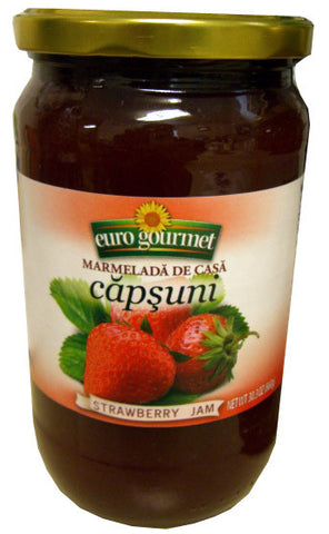 Strawberry Jam, Capsuni (EuroGourmet) 30.3 oz (860g) - Parthenon Foods
