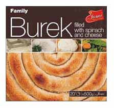 Family Burek with Spinach and Cheese, 500g - Parthenon Foods