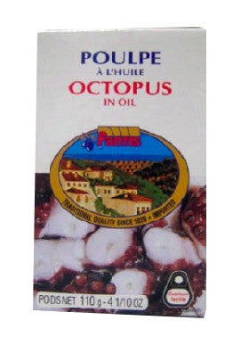 Octopus in Oil (fantis) 115g - Parthenon Foods