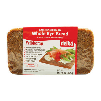 Feldkamp Whole Rye Bread, 16.75 oz (475g) - Parthenon Foods