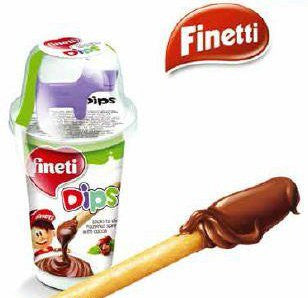 Fineti Dips, Sticks and Hazelnut Spread, CASE (6 x 45g) - Parthenon Foods