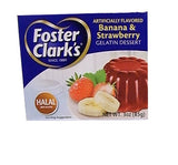 Banana & Strawberry Gelatin Dessert (Foster Clark's) 3 oz (85g) - Parthenon Foods