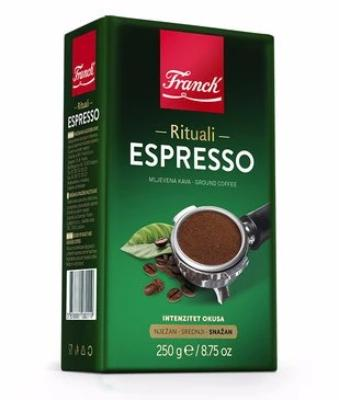 Espresso Ground Coffee (Franck) 250g, GREEN PKG - Parthenon Foods