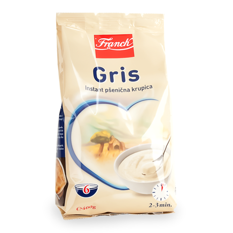 Gris, Instant Cream of Wheat Dry Cereal (Franck) 14oz (400g) - Parthenon Foods
