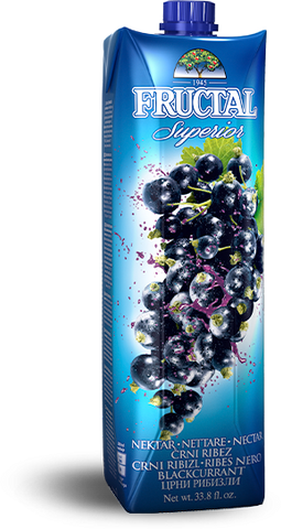 Black Currant Nectar (fructal) 1L - Parthenon Foods