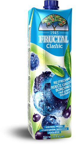 Red Grapes and Blueberry Juice (Fructal) 1 L - Parthenon Foods