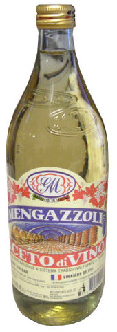 White Wine Vinegar (Mengazzoli, GM) 1000 ml (34 oz) - Parthenon Foods