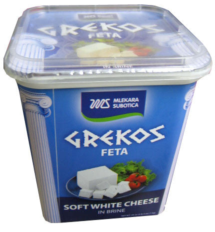 GREKOS Feta Soft White Cheese in Brine, 900g - Parthenon Foods