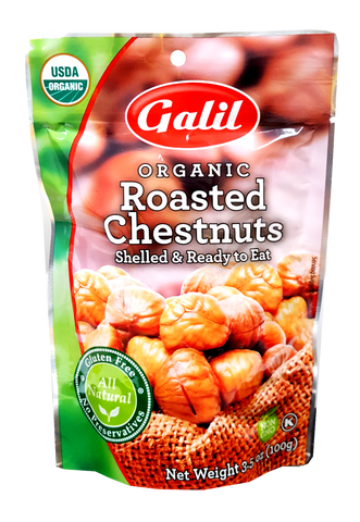 Organic Roasted Chestnuts, Shelled & Ready To Eat (Galil) 3.5 oz - Parthenon Foods