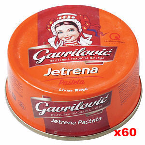 Pork Pate (gavrilovic) CASE (60x3.53oz(100g)) - Parthenon Foods