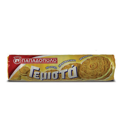 Biscuits Filled with Banana Flavor, 200g - Parthenon Foods
